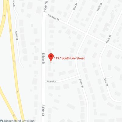 1197 S. Erie Street Map
