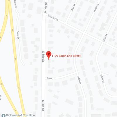 1199 S. Erie Street Map