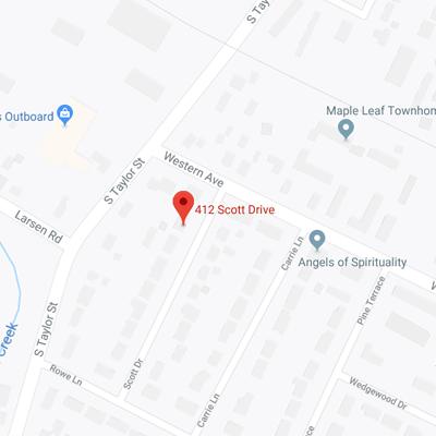 412 Scott Drive Map