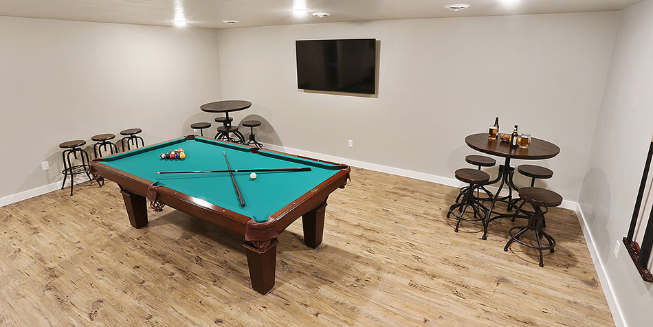 Shadow Lane Lower Level Pool Table